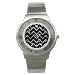 CHV9 BK MARBLE SILVER Stainless Steel Watches by trendistuff
