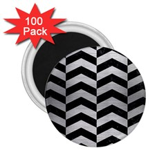 CHV2 BK MARBLE SILVER 2.25  Magnets (100 pack)  by trendistuff
