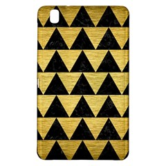 Triangle2 Black Marble & Gold Brushed Metal Samsung Galaxy Tab Pro 8 4 Hardshell Case by trendistuff
