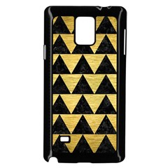 Triangle2 Black Marble & Gold Brushed Metal Samsung Galaxy Note 4 Case (black) by trendistuff