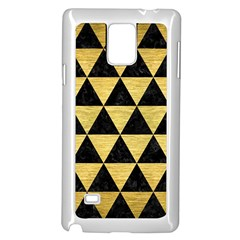 Triangle3 Black Marble & Gold Brushed Metal Samsung Galaxy Note 4 Case (white) by trendistuff