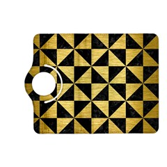 Triangle1 Black Marble & Gold Brushed Metal Kindle Fire Hd (2013) Flip 360 Case by trendistuff