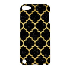 Tile1 Black Marble & Gold Brushed Metal Apple Ipod Touch 5 Hardshell Case by trendistuff