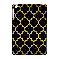 Tile1 Black Marble & Gold Brushed Metal Apple Ipad Mini Hardshell Case (compatible With Smart Cover) by trendistuff