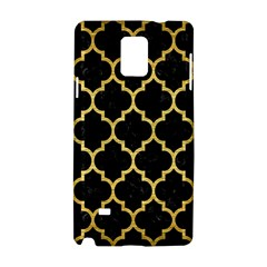 Tile1 Black Marble & Gold Brushed Metal Samsung Galaxy Note 4 Hardshell Case by trendistuff