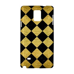 Square2 Black Marble & Gold Brushed Metal Samsung Galaxy Note 4 Hardshell Case by trendistuff