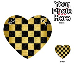 SQR1 BK MARBLE GOLD Playing Cards 54 (Heart)  by trendistuff