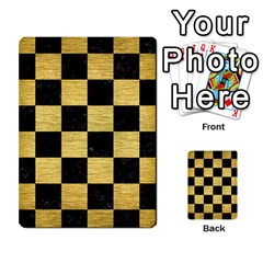 Square1 Black Marble & Gold Brushed Metal Multi Purpose Cards (rectangle) by trendistuff