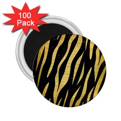 Skin3 Black Marble & Gold Brushed Metal 2 25  Magnet (100 Pack)  by trendistuff