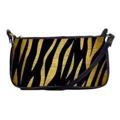 Skin3 Black Marble & Gold Brushed Metal Shoulder Clutch Bag by trendistuff
