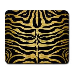 Skin2 Black Marble & Gold Brushed Metal Large Mousepad by trendistuff