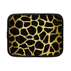 Skin1 Black Marble & Gold Brushed Metal (r) Netbook Case (small) by trendistuff