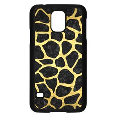 Skin1 Black Marble & Gold Brushed Metal (r) Samsung Galaxy S5 Case (black) by trendistuff