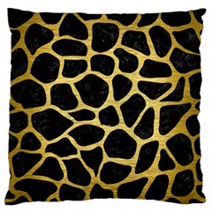 SKN1 BK MARBLE GOLD (R) Standard Flano Cushion Cases (One Side)  by trendistuff