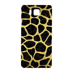 Skin1 Black Marble & Gold Brushed Metal (r) Samsung Galaxy Alpha Hardshell Back Case by trendistuff