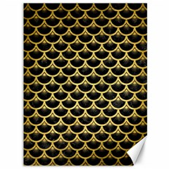SCA3 BK MARBLE GOLD Canvas 36  x 48   by trendistuff