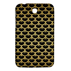 Scales3 Black Marble & Gold Brushed Metal Samsung Galaxy Tab 3 (7 ) P3200 Hardshell Case  by trendistuff