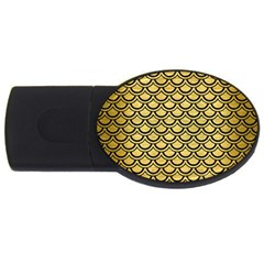Scales2 Black Marble & Gold Brushed Metal (r) Usb Flash Drive Oval (4 Gb) by trendistuff