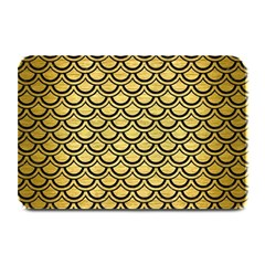 Scales2 Black Marble & Gold Brushed Metal (r) Plate Mat by trendistuff