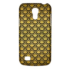 Scales2 Black Marble & Gold Brushed Metal (r) Samsung Galaxy S4 Mini (gt I9190) Hardshell Case  by trendistuff