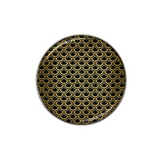 Scales2 Black Marble & Gold Brushed Metal Hat Clip Ball Marker (10 Pack) by trendistuff