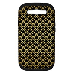 Scales2 Black Marble & Gold Brushed Metal Samsung Galaxy S Iii Hardshell Case (pc+silicone) by trendistuff