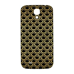Scales2 Black Marble & Gold Brushed Metal Samsung Galaxy S4 I9500/i9505  Hardshell Back Case by trendistuff