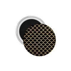Scales1 Black Marble & Gold Brushed Metal 1 75  Magnet by trendistuff