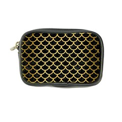 Scales1 Black Marble & Gold Brushed Metal Coin Purse by trendistuff