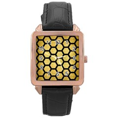 HXG2 BK MARBLE GOLD (R) Rose Gold Watches by trendistuff