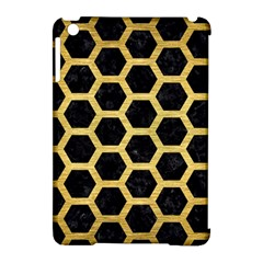 HXG2 BK MARBLE GOLD Apple iPad Mini Hardshell Case (Compatible with Smart Cover) by trendistuff