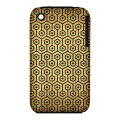 Hexagon1 Black Marble & Gold Brushed Metal (r) Apple Iphone 3g/3gs Hardshell Case (pc+silicone) by trendistuff