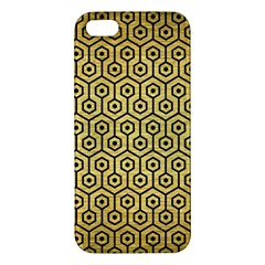 Hexagon1 Black Marble & Gold Brushed Metal (r) Iphone 5s/ Se Premium Hardshell Case by trendistuff