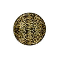 Damask2 Black Marble & Gold Brushed Metal Hat Clip Ball Marker (10 Pack) by trendistuff