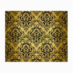 Damask1 Black Marble & Gold Brushed Metal (r) Small Glasses Cloth by trendistuff