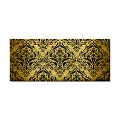 DMS1 BK MARBLE GOLD (R) Hand Towel by trendistuff