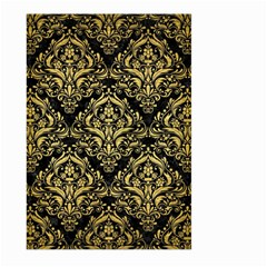 DMS1 BK MARBLE GOLD Large Garden Flag (Two Sides) by trendistuff