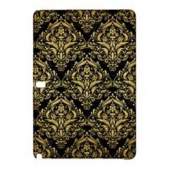 Damask1 Black Marble & Gold Brushed Metal Samsung Galaxy Tab Pro 12 2 Hardshell Case by trendistuff