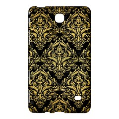 Damask1 Black Marble & Gold Brushed Metal Samsung Galaxy Tab 4 (7 ) Hardshell Case  by trendistuff
