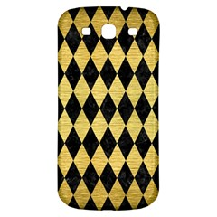 Diamond1 Black Marble & Gold Brushed Metal Samsung Galaxy S3 S Iii Classic Hardshell Back Case by trendistuff