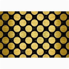 Circles2 Black Marble & Gold Brushed Metal Collage 12  X 18  by trendistuff