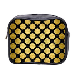 CIR2 BK MARBLE GOLD Mini Toiletries Bag 2-Side by trendistuff