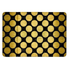 Circles2 Black Marble & Gold Brushed Metal Samsung Galaxy Tab 8 9  P7300 Flip Case by trendistuff