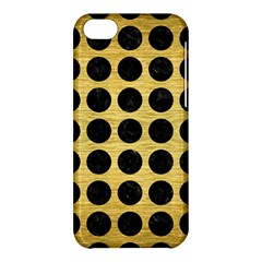 Circles1 Black Marble & Gold Brushed Metal (r) Apple Iphone 5c Hardshell Case by trendistuff