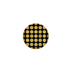 Circles1 Black Marble & Gold Brushed Metal 1  Mini Button by trendistuff