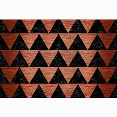 Triangle2 Black Marble & Copper Brushed Metal Collage 12  X 18  by trendistuff