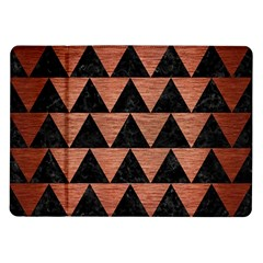 Triangle2 Black Marble & Copper Brushed Metal Samsung Galaxy Tab 10 1  P7500 Flip Case by trendistuff