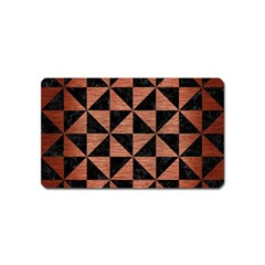 Triangle1 Black Marble & Copper Brushed Metal Magnet (name Card) by trendistuff