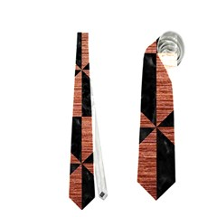 Triangle1 Black Marble & Copper Brushed Metal Necktie (two Side) by trendistuff