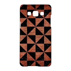 Triangle1 Black Marble & Copper Brushed Metal Samsung Galaxy A5 Hardshell Case  by trendistuff